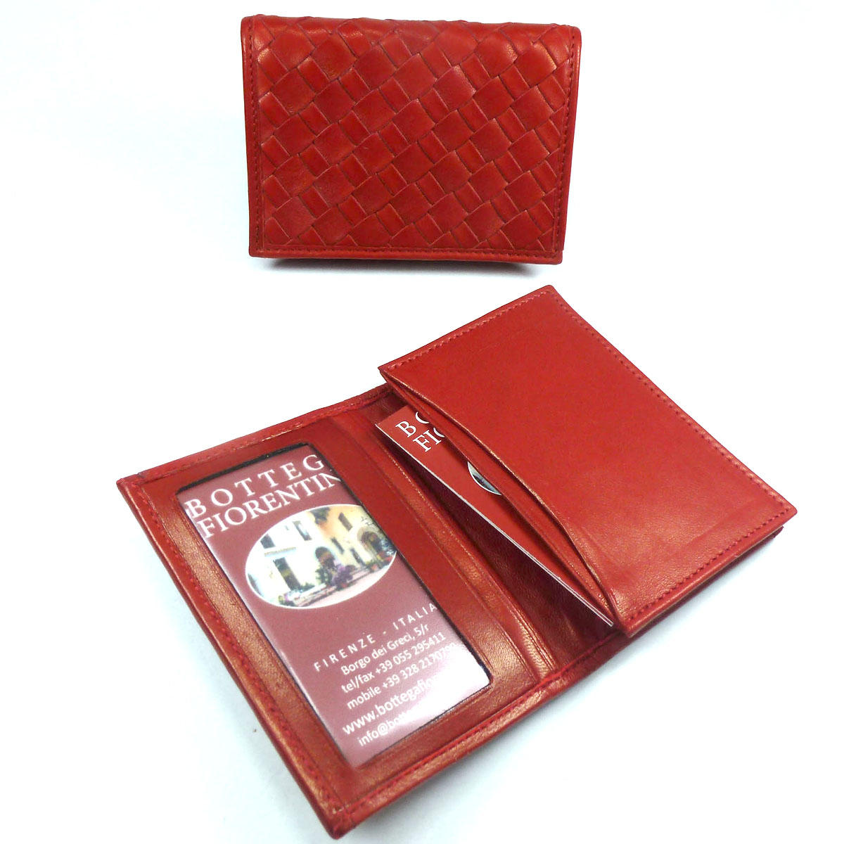 1331 Business card holder with window by Bottega Fiorentina