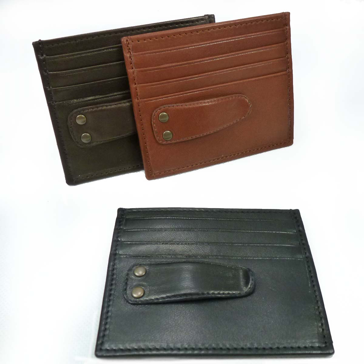 1332 Money clip with 8 credit cards pockets by Bottega Fiorentina