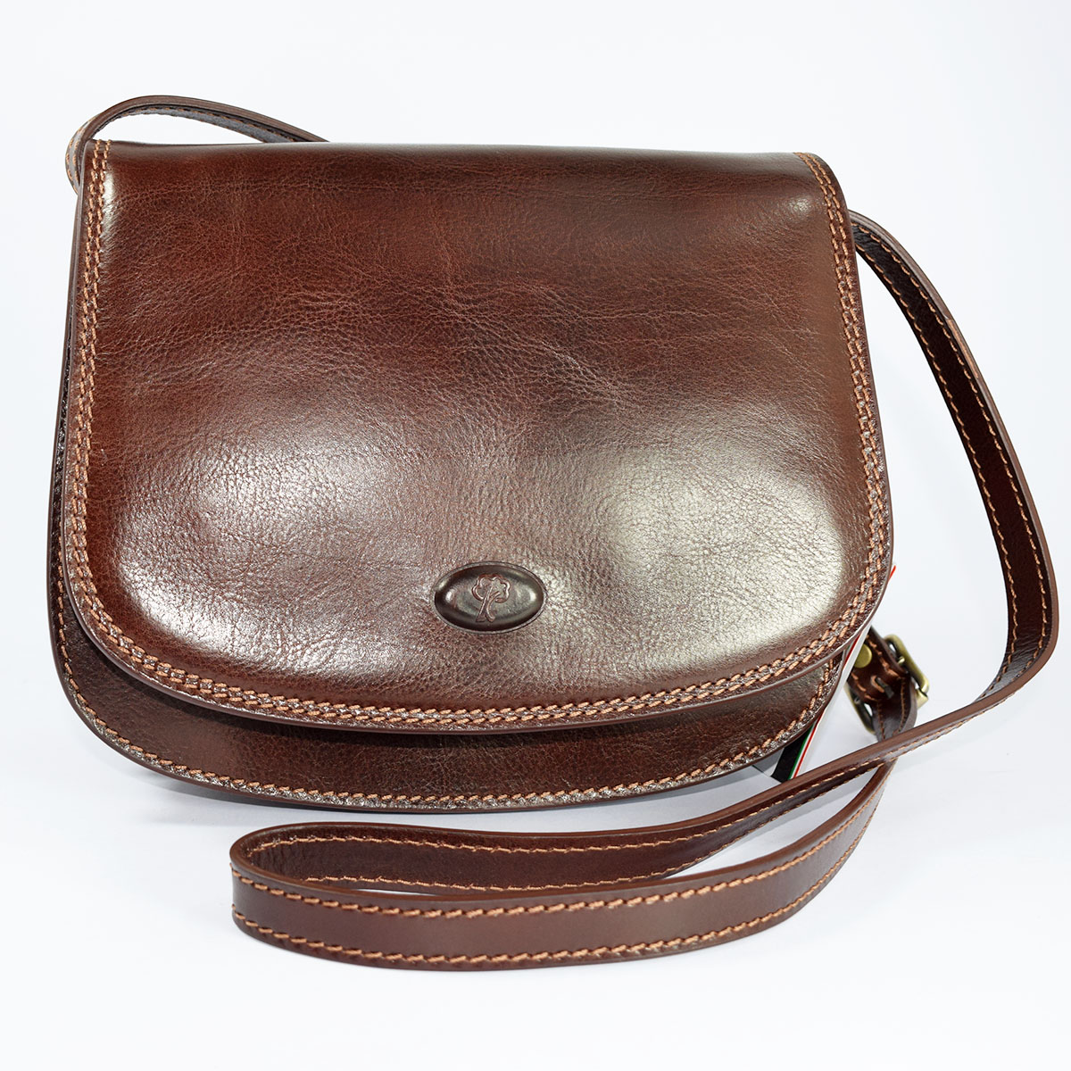 64053 Leather shoulder bag by Bottega Fiorentina