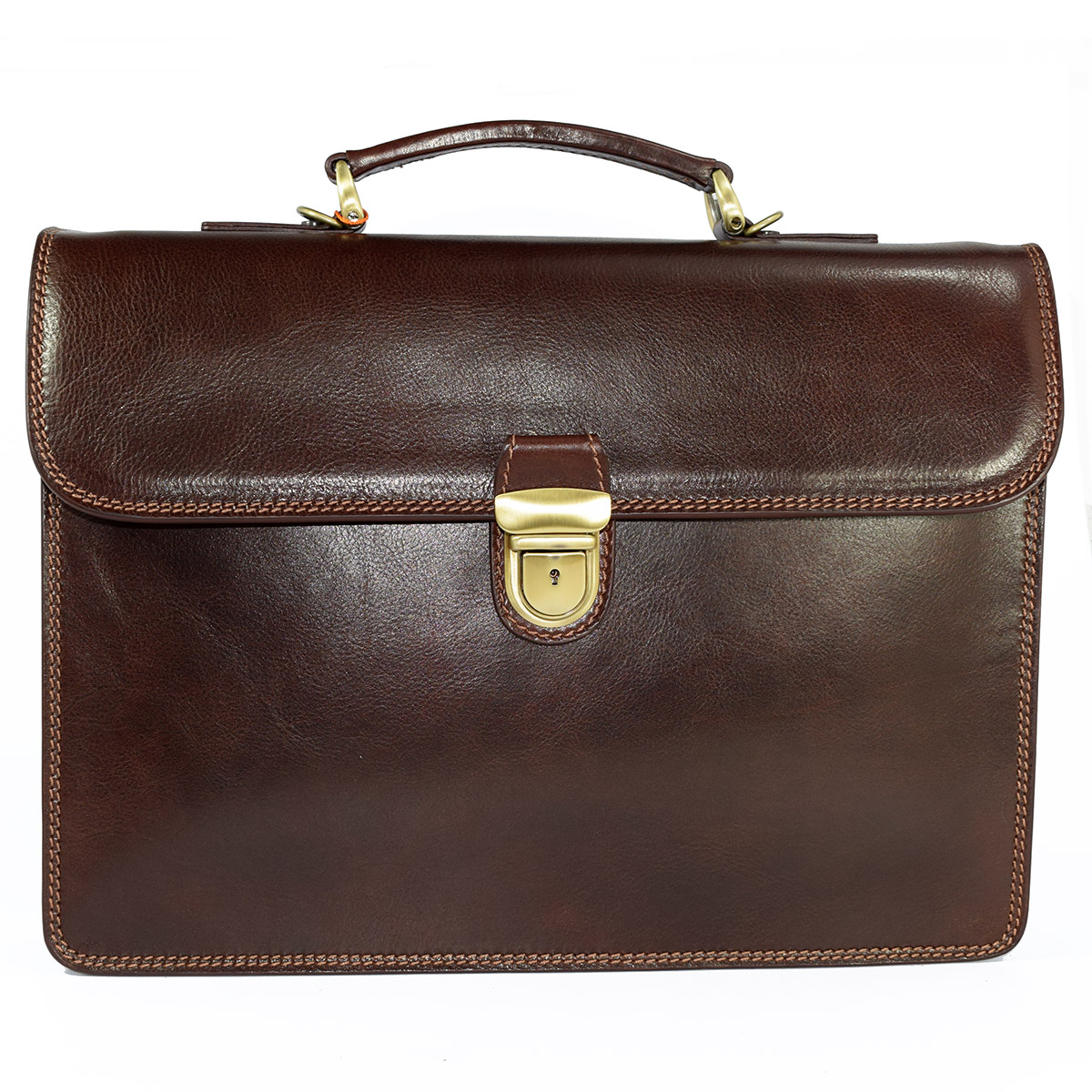 64035 Single Section Briefcase by Bottega Fiorentina