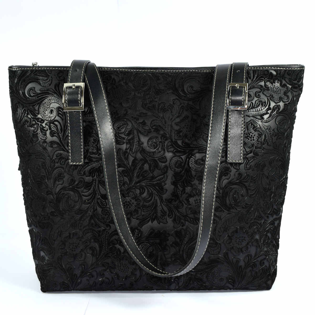 11958 SHOPPING BAG WITH ZIPPER by Bottega Fiorentina