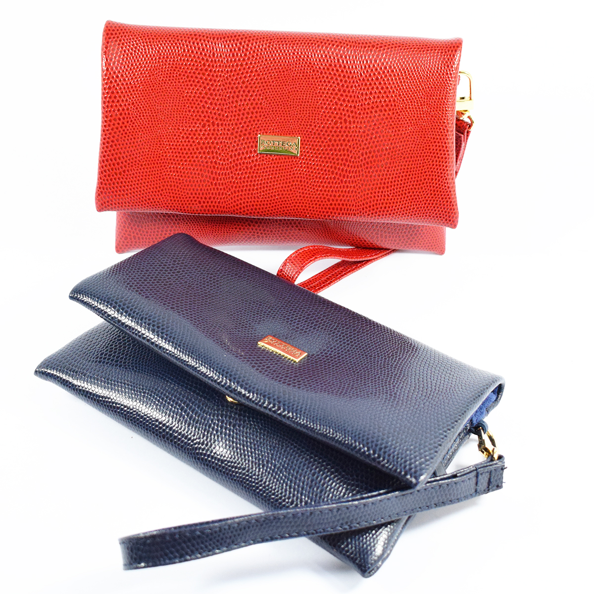 1738 CLUTCH WITH DETACHABLE HANDLE by Bottega Fiorentina
