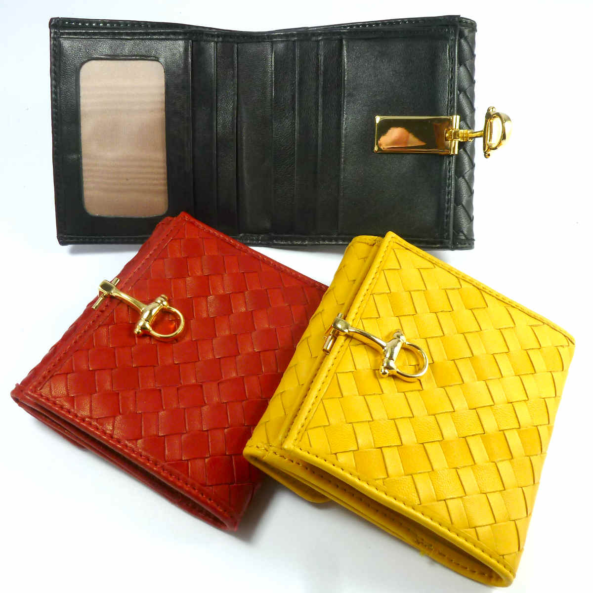 1662 WOVEN WALLET with external coinpurse by Bottega Fiorentina