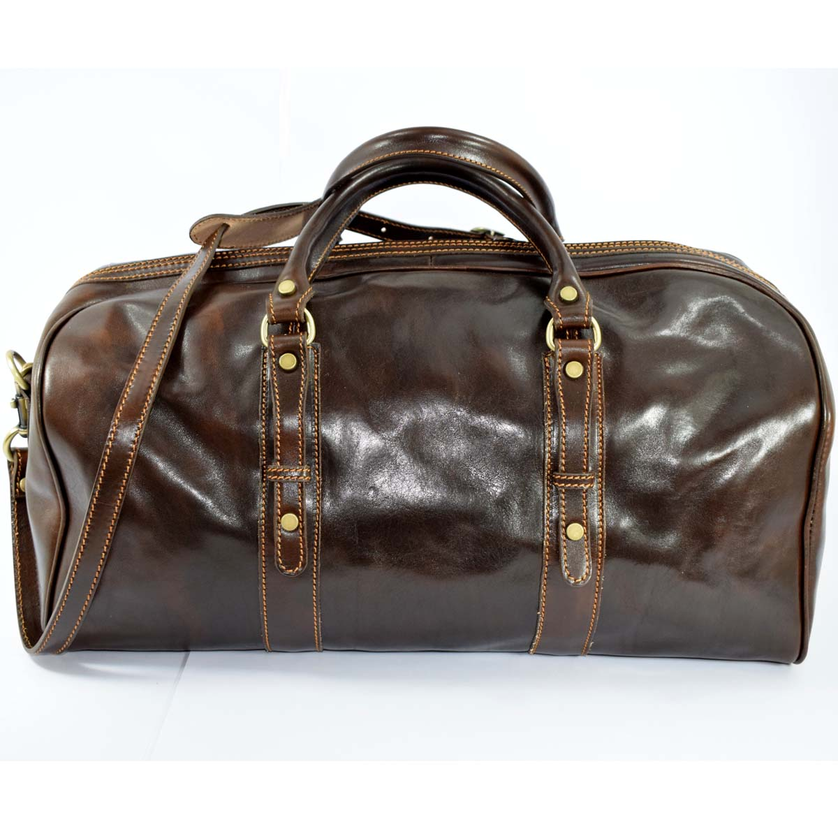 f5f9601899 24514 travel leather duffle bag of vegetable cowhide cm 50x24 french ...