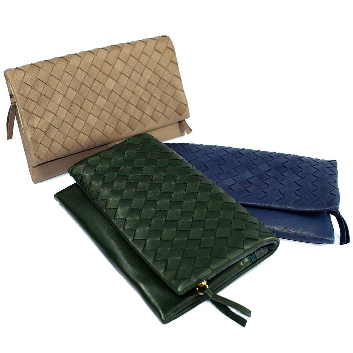 1719  CLUTCH SOFT with flap by Bottega Fiorentina