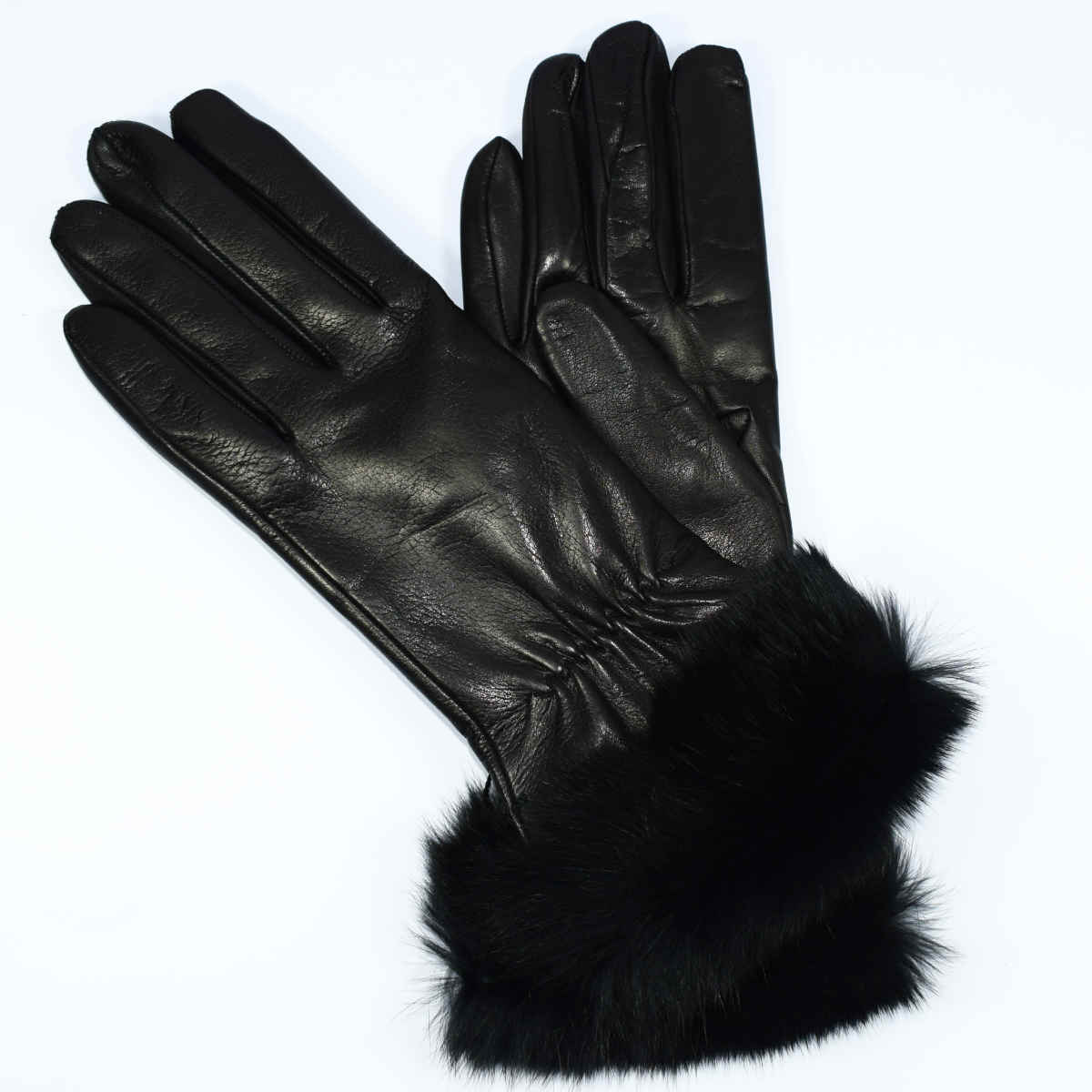 5PELL   WOMAN GLOVES WITH FUR by Bottega Fiorentina