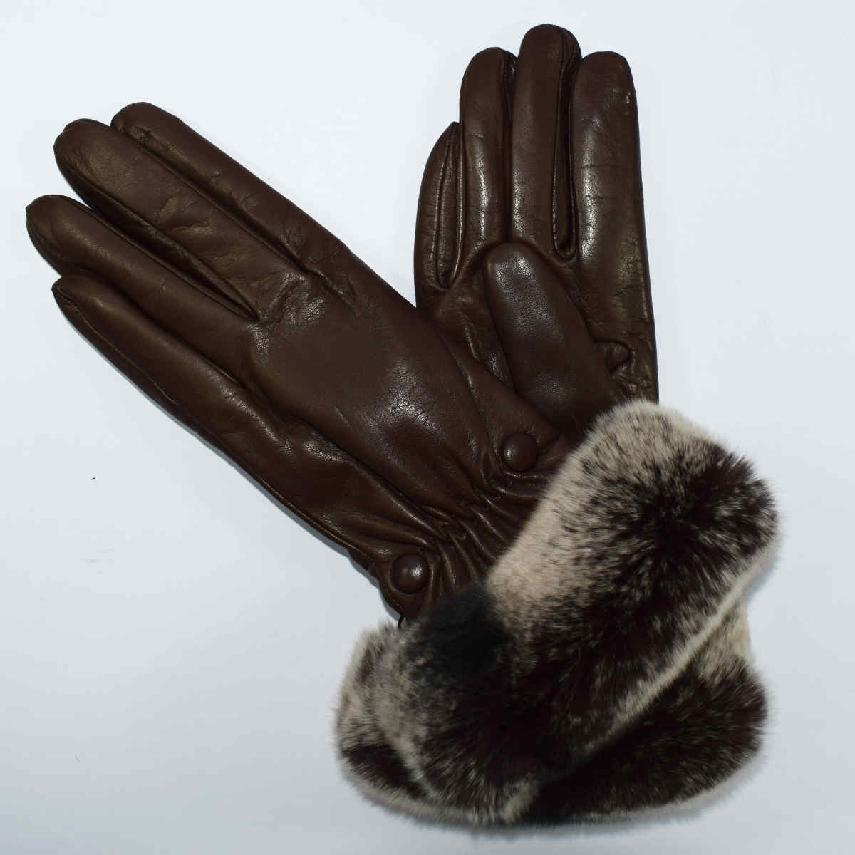 5V27 WOMAN GLOVES with FUR by Bottega Fiorentina