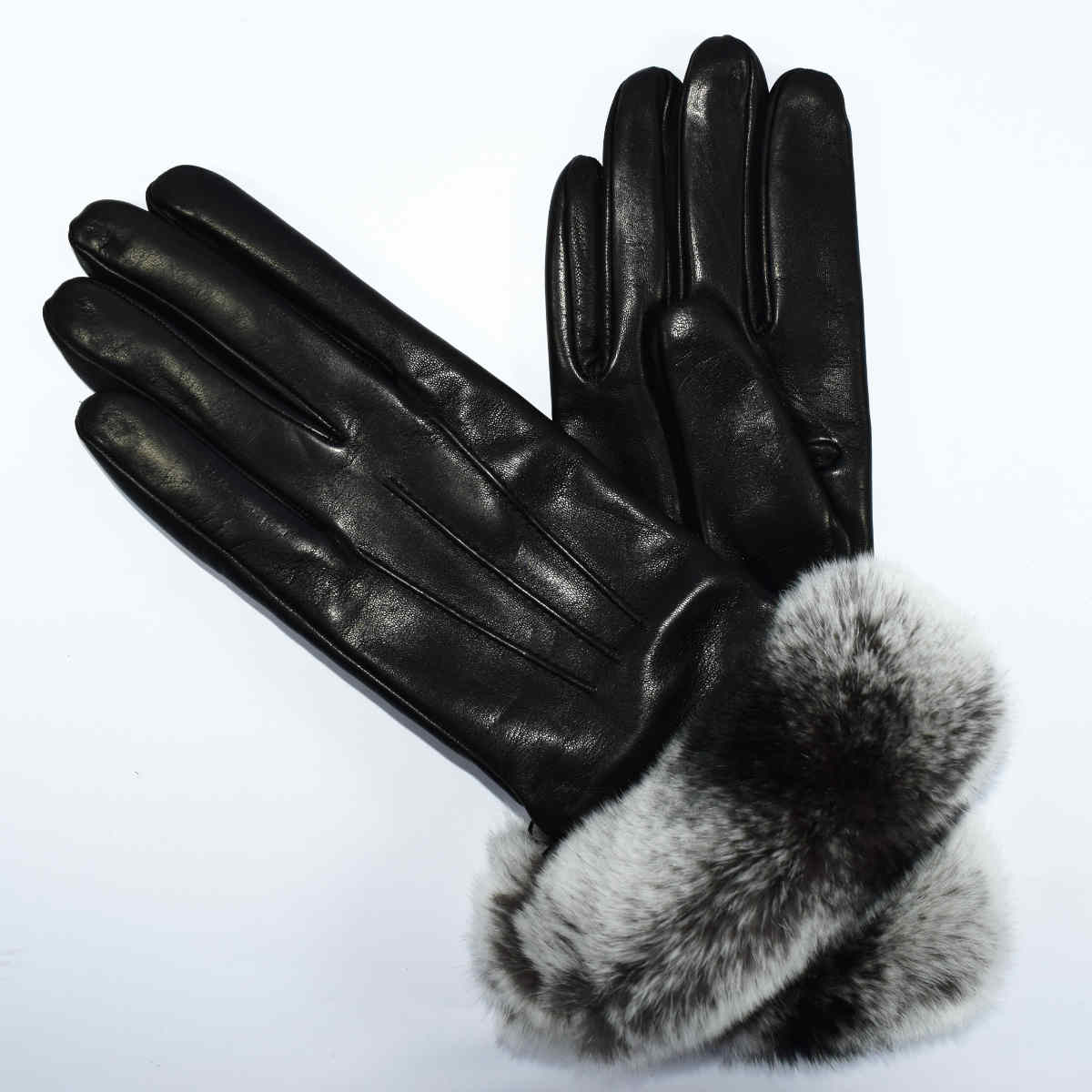 5R36 GLOVES WITH FUR by Bottega Fiorentina