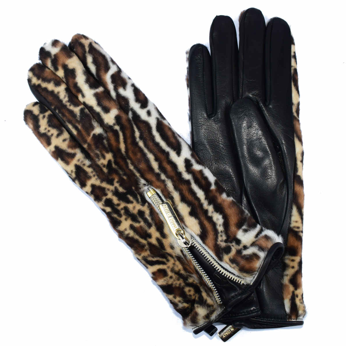 5H10 GLOVE WITH ECOLOGICAL FUR AND LEATHER by Bottega Fiorentina