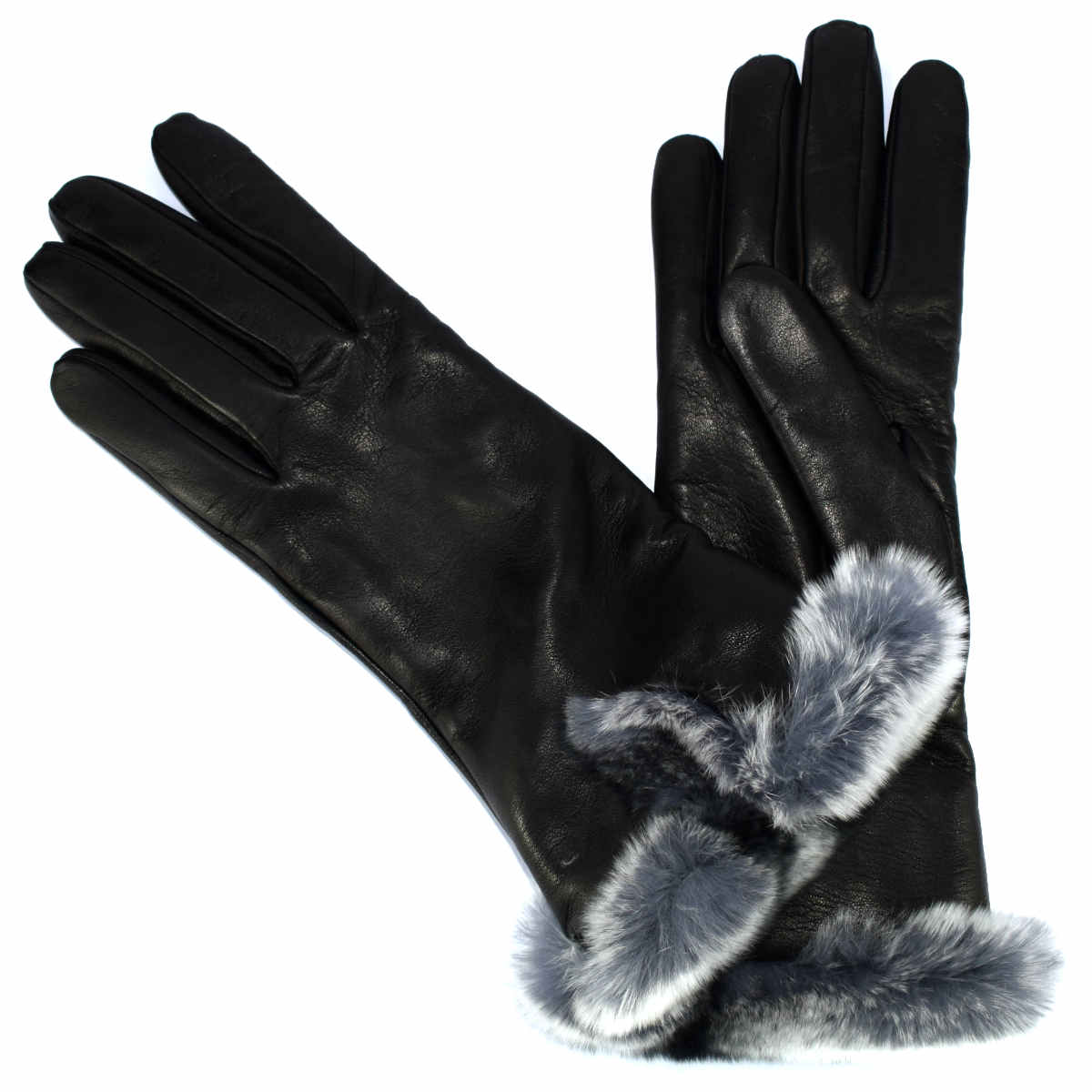 8M21 WOMAN GLOVES WITH FUR by Bottega Fiorentina