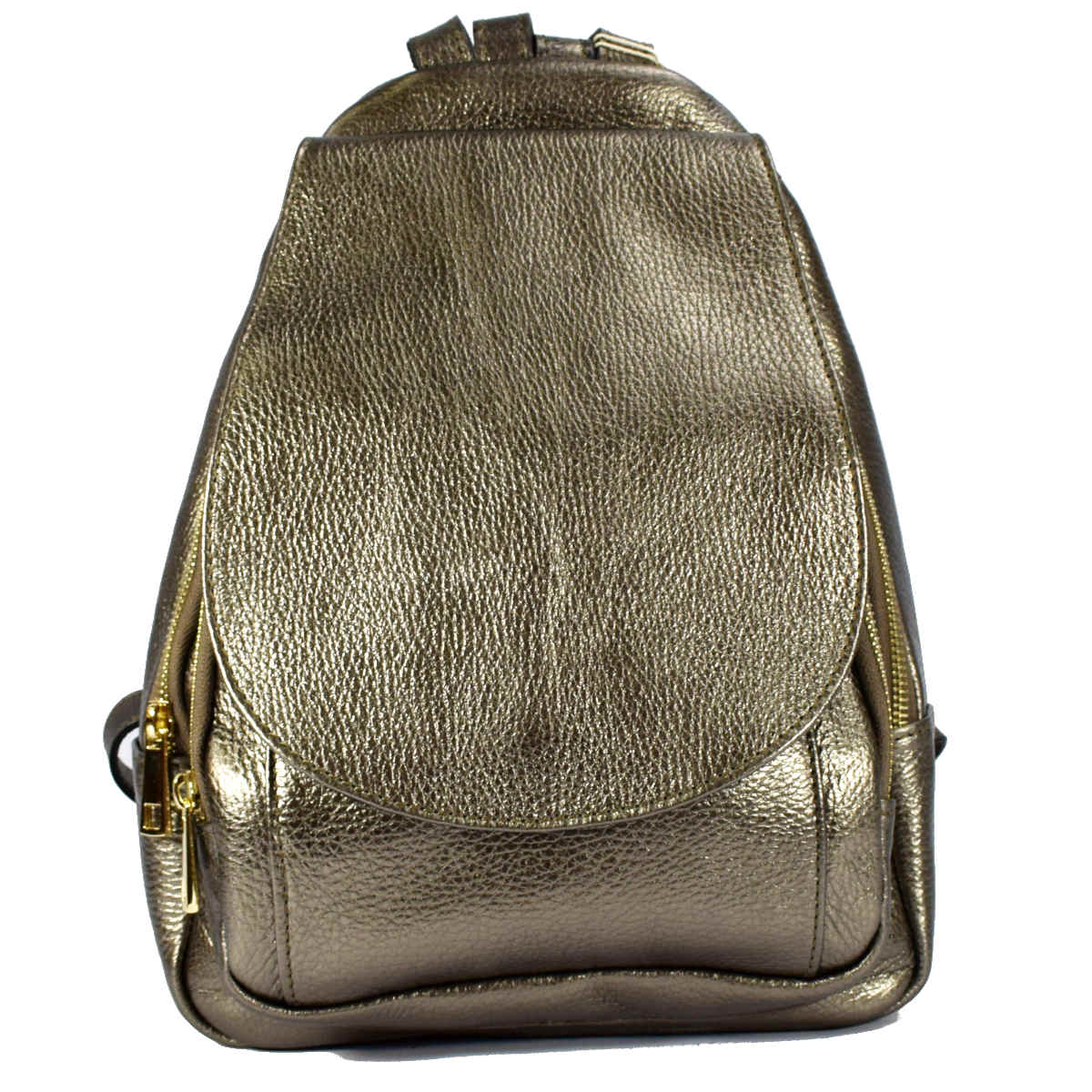 12737 SMALL BACKPACK WITH FLAP AND ZIPPERS by Bottega Fiorentina