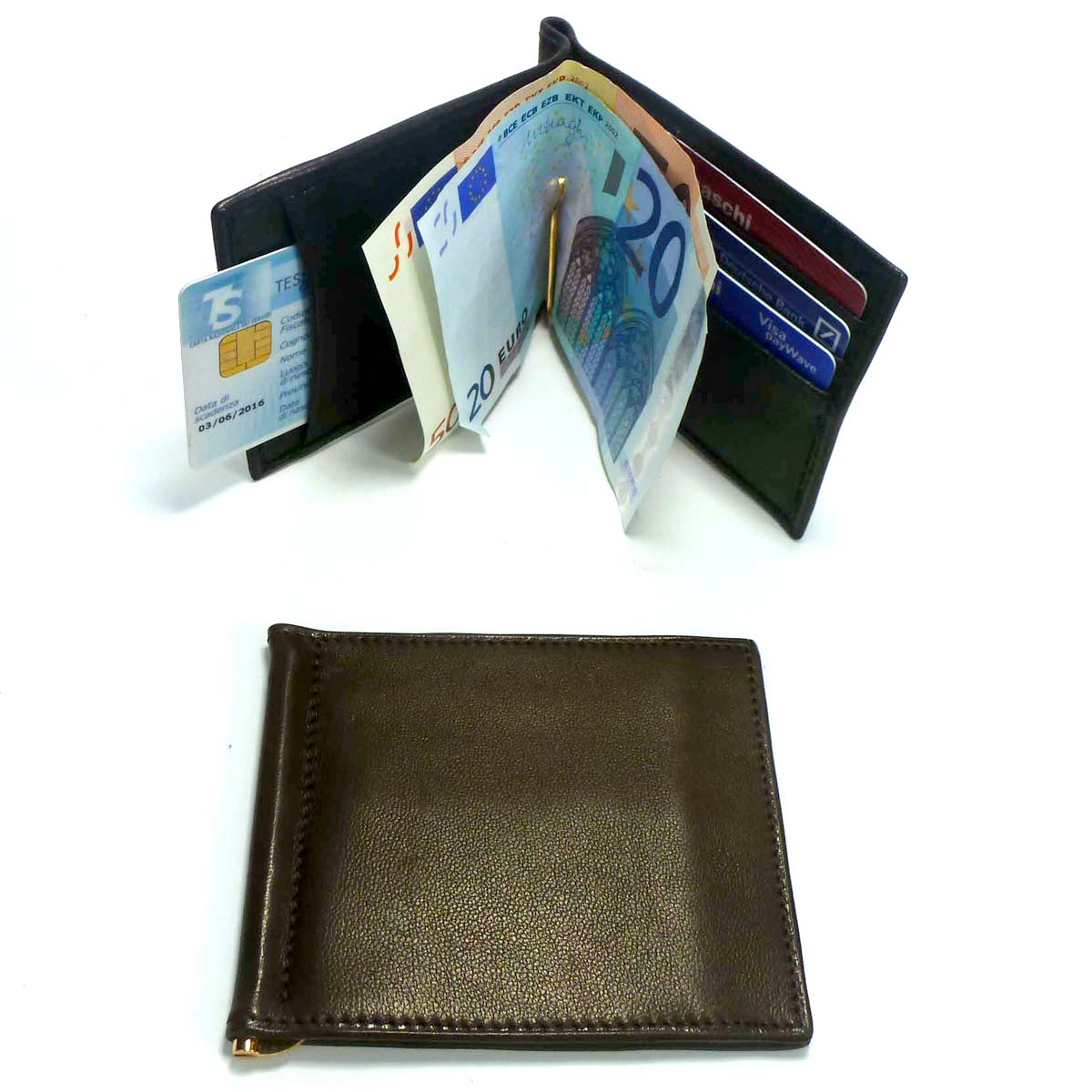 1343 Money Clip Wallet 3 pockets for euro by Bottega Fiorentina