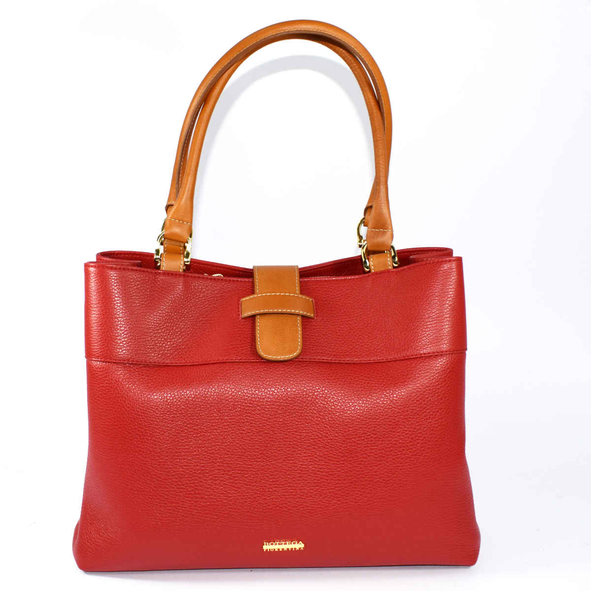 12710 BAG 2 HANDLES TWO-TONE by Bottega Fiorentina