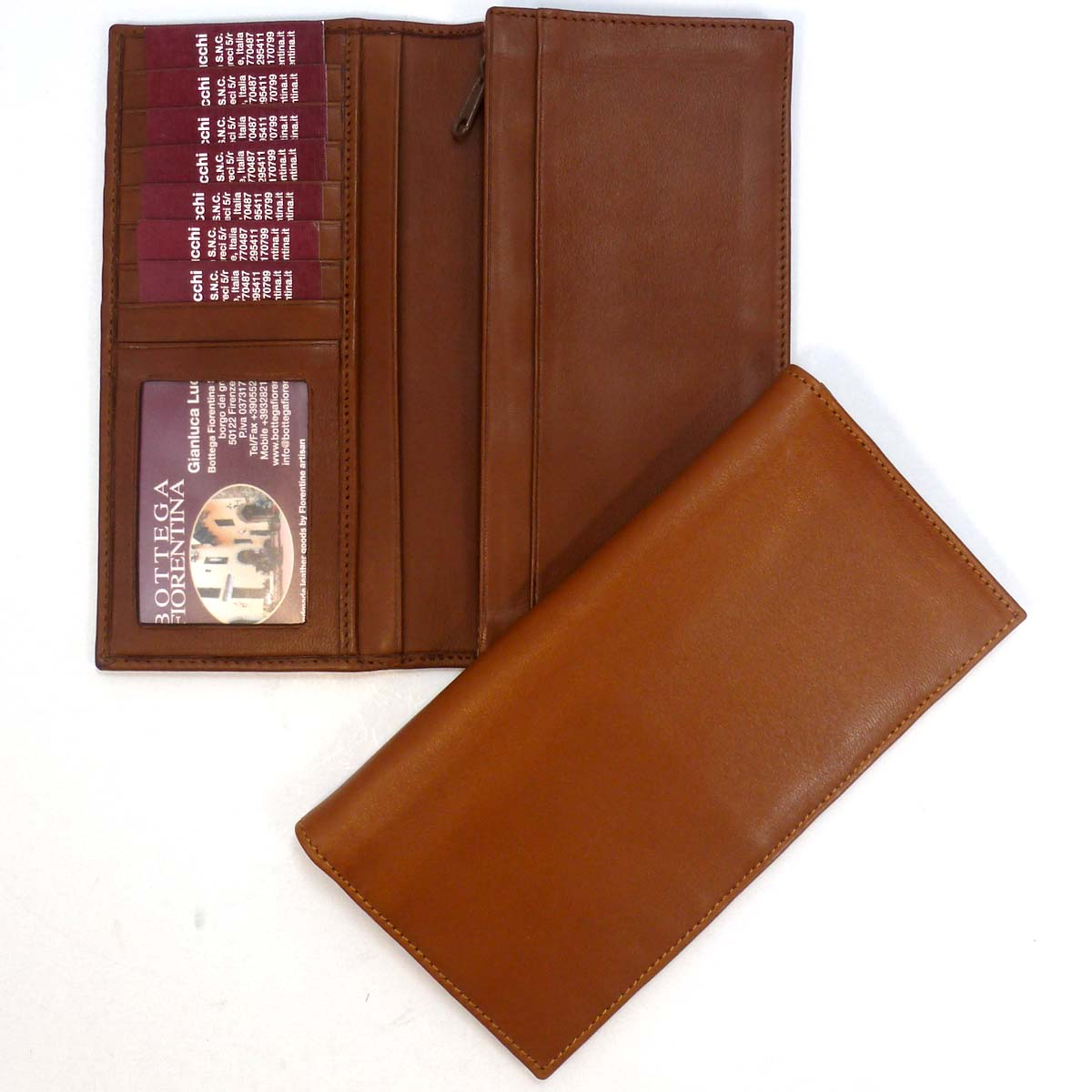 1353 long pocket wallet 7 slots by Bottega Fiorentina