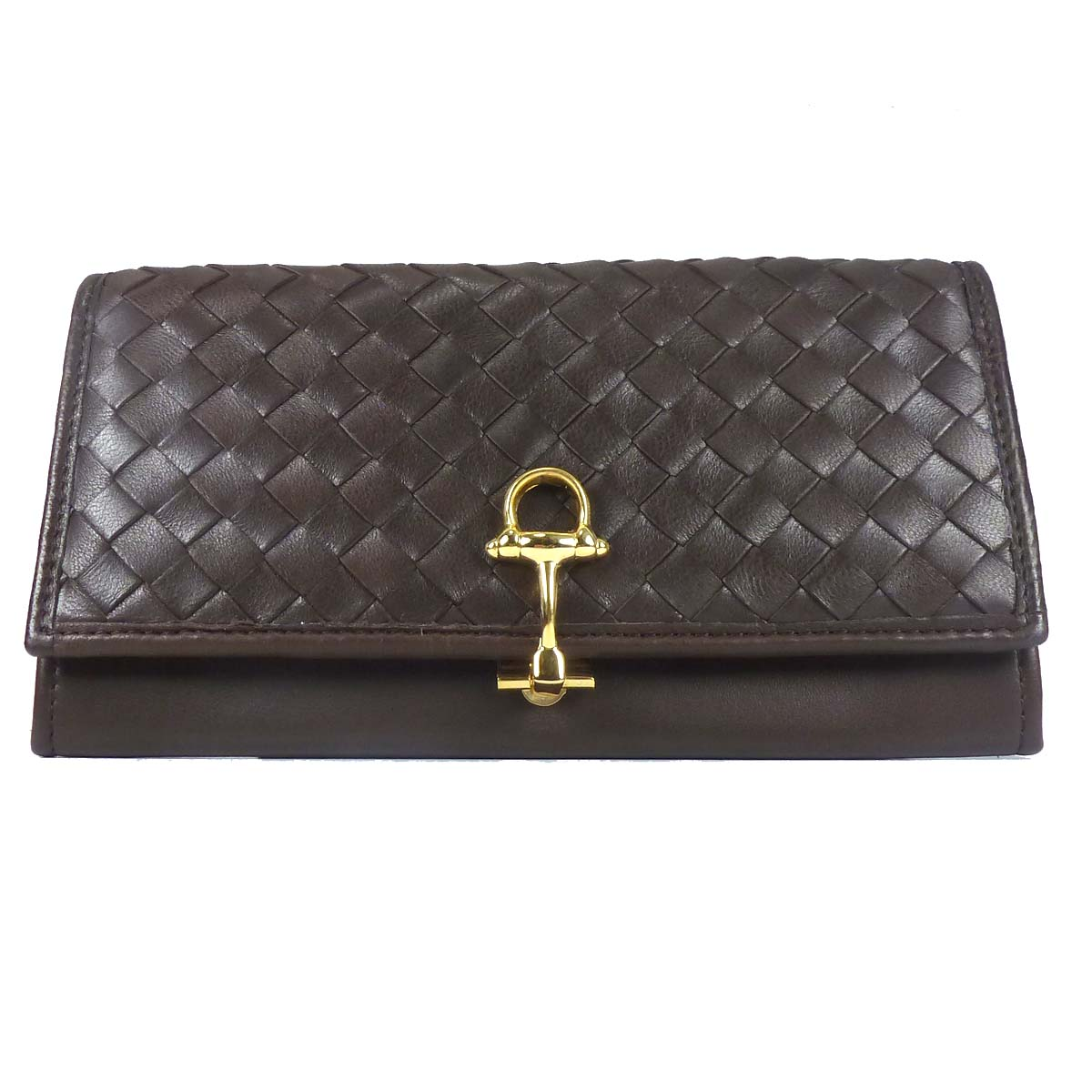1691 Women's Leather Wallet with metal clip by Bottega Fiorentina