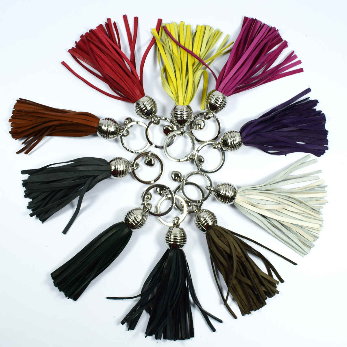 1408 Keyring with tassel by Bottega Fiorentina