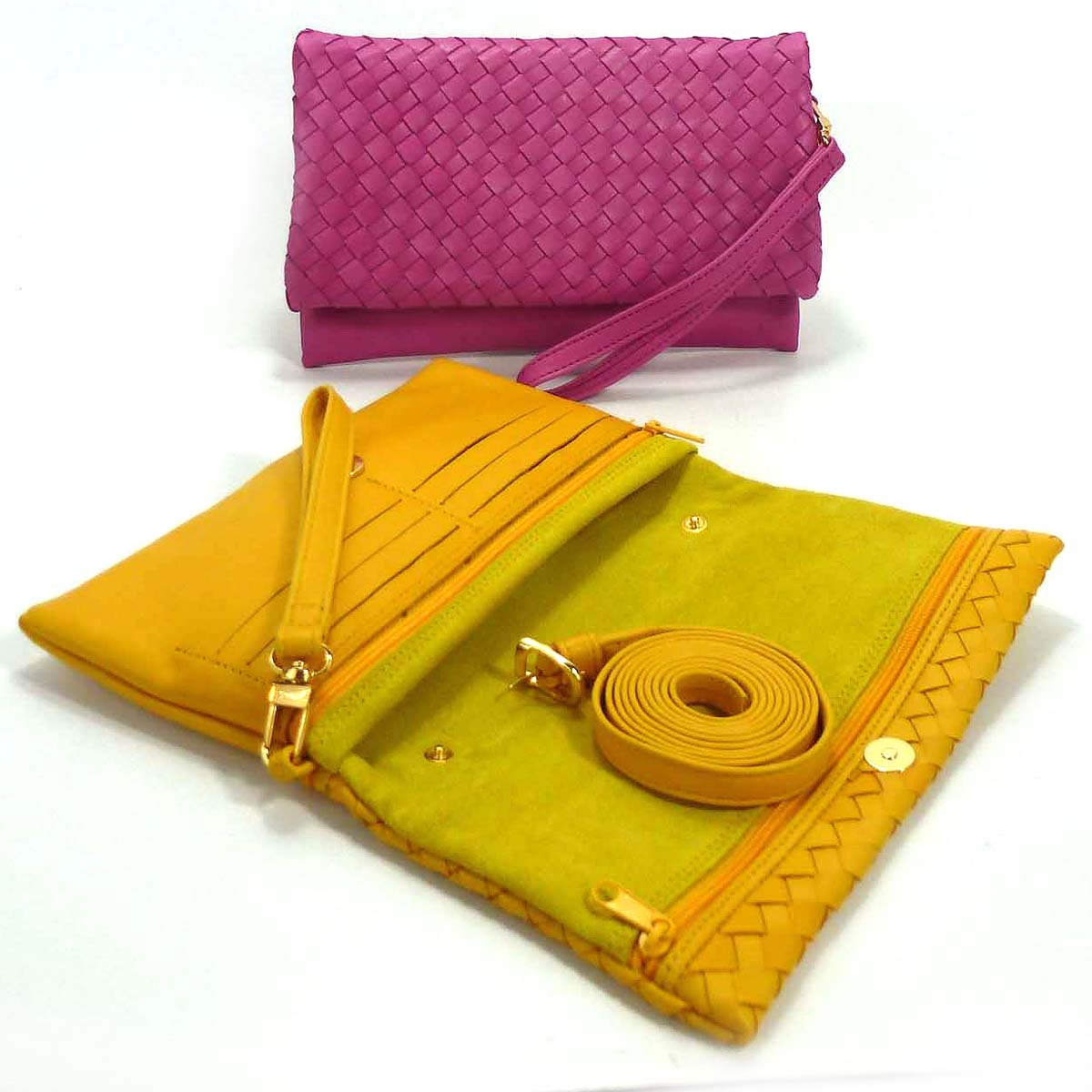 1739 clutch bag with detachable handle by Bottega Fiorentina